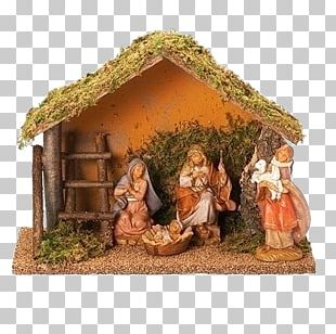 Nativity Scene Manger Christmas Day Willow Tree Figurine PNG