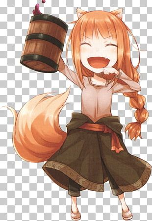 Spice And Wolf Fiction Parchment Polyvinyl Chloride Model Figure PNG