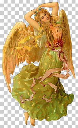 Victorian Era Cherub Angel Gabriel PNG