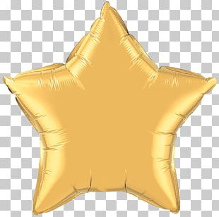 Mylar Balloon Gold Star Color PNG