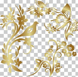Bird Ornament Pattern PNG