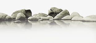 Water Stone Material PNG