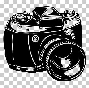 Camera Black And White PNG