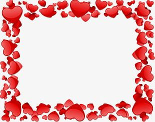 Romantic Love Border Texture PNG