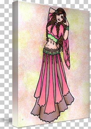 Belly Dance Art Costume Design PNG