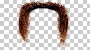 Long Ginger Moustache PNG