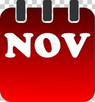 November Calendar PNG