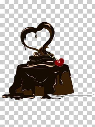 Chocolate Cake Torte Milk Icing PNG