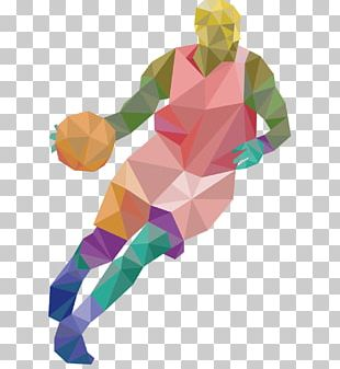 Sport Athlete Low Poly PNG
