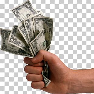 Hand Holding Dollars Money PNG