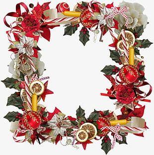 Christmas Wreath Frame PNG