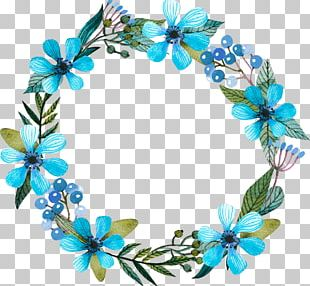 Floral Design Wreath Blue Flower PNG