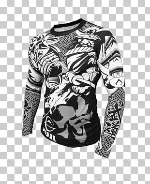 Sleeve T-shirt Rash Guard Brazilian Jiu-jitsu Mixed Martial Arts PNG