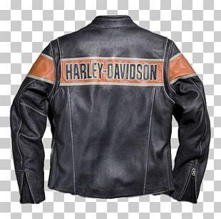 T-shirt Leather Jacket Harley-Davidson PNG