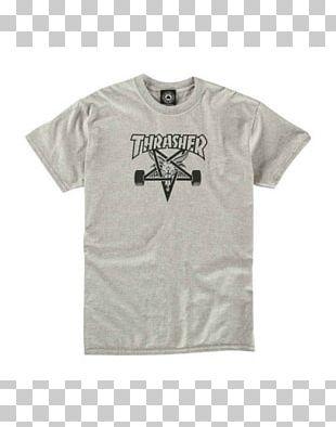 T-shirt Thrasher Presents Skate And Destroy Skateboarding Snowboarding PNG