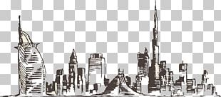 Dubai Skyline Drawing Photography PNG