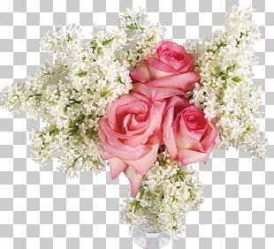Flower Bouquet Vase Rose Floral Design PNG