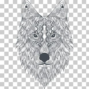 Zoo Animals Coloring Book Gray Wolf Amazing Animals Coloring Book Mandala PNG