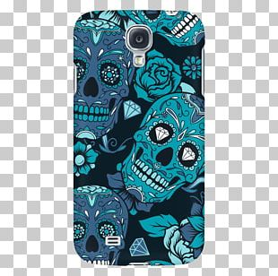 Calavera Day Of The Dead Skull Blue PNG
