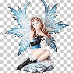 Fairy Figurine Owl Statue Collectable PNG