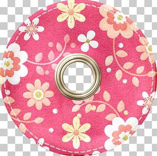 Digital Scrapbooking Paper Button PNG
