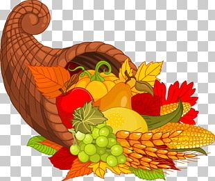 Thanksgiving Cornucopia Turkey Meat PNG