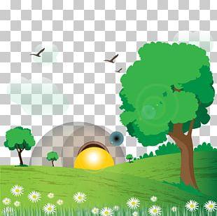 Natural Landscape Euclidean Drawing PNG