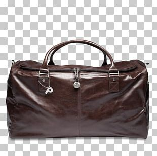 Leather Baggage Hand Luggage Tasche PNG