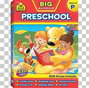 Big Preschool Workbook Pre-school Kindergarten School Zone PNG