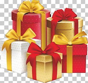 Gift Ribbon Decorative Box Birthday PNG