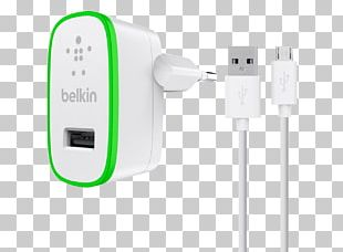 Battery Charger Micro-USB Belkin Electrical Cable PNG