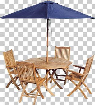 Table Garden Furniture Patio Umbrella Chair PNG