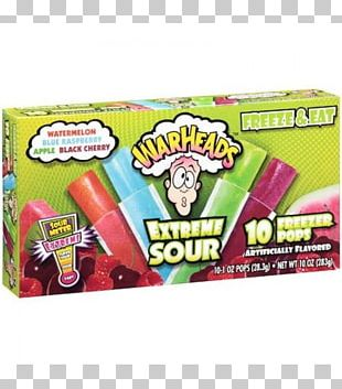 Ice Pop Sour Ice Cream Warheads Fizzy Drinks PNG
