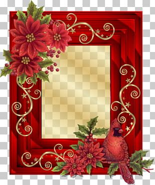 Frames Borders And Frames Craft Christmas Poinsettia PNG