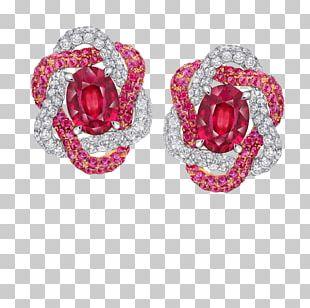 Ruby Earring Jewellery Costume Jewelry PNG