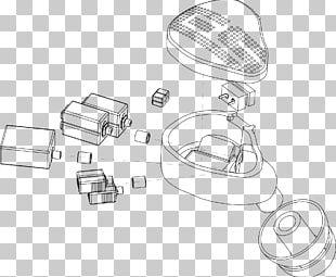 Automotive Lighting Technology Line Art Sketch PNG