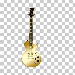 Golden Guitar Musical Instrument PNG