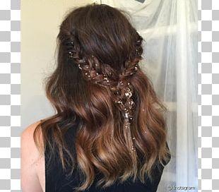 Long Hair Hairstyle Glitter Braid PNG