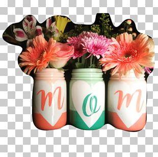 Mason Jar Vase Mother's Day Gift PNG