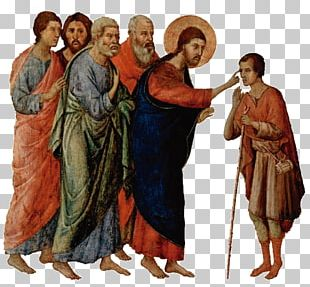 Middle Ages Healing The Man Blind From Birth Religion God Filho De Deus PNG