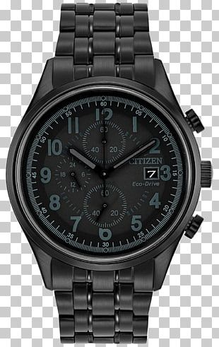 Eco-Drive Citizen Holdings Chronograph Watch Ion Plating PNG