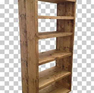 Shelf Bookcase Rustic Furniture Craft PNG