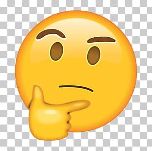 Thinking Emoji Sticker Thought Emoticon PNG