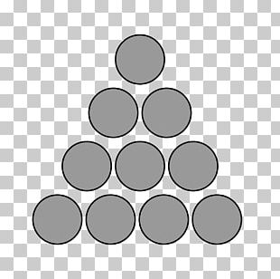Triangle Circle Triangular Number Polygonal Number PNG