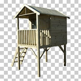 Wood Shed Picnic Table Swing Playground Slide PNG
