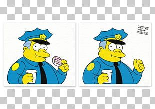 Chief Wiggum Reverend Lovejoy Donuts Waylon Smithers Principal Skinner PNG