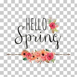 Hello Spring Desktop Photography PNG