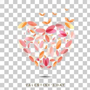 Valentine's Day Heart Qixi Festival Gift Greeting Card PNG
