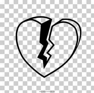 Black And White Drawing Coloring Book Broken Heart PNG