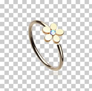 Ring Body Jewellery Nose Piercing Gold PNG